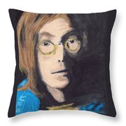 John Lennon Pastel Throw Pillow by Jimi Bush