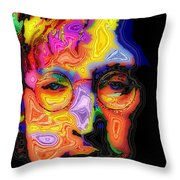 John Lennon Throw Pillow by Stephen Anderson
