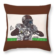 Johnny Manziel 12 Throw Pillow by Jeremiah Colley