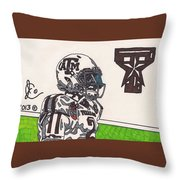 Johnny Manziel 13 Throw Pillow by Jeremiah Colley