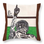 Johnny Manziel 7 Throw Pillow by Jeremiah Colley