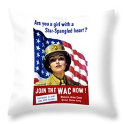 Join The Wac Now Throw Pillow by War Is Hell Store