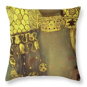 Judith Throw Pillow by Gustav Klimt