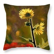 July Afternoon-compass Plant Throw Pillow by Bruce Morrison