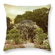 June Bloom Throw Pillow by Jessica Jenney