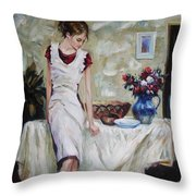 Just The Next Day Throw Pillow by Sergey Ignatenko