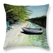 Just You And I Throw Pillow by Elizabeth Robinette Tyndall