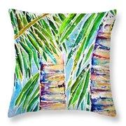 Kaimana Beach Throw Pillow by Julie Kerns Schaper - Printscapes