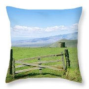 Kamuela Pasture Throw Pillow by David Cornwell/First Light Pictures, Inc - Printscapes