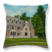 Kappa Delta Rho North View Throw Pillow by Charlotte Blanchard