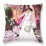 Kate The Princess Bride Throw Pillow by Patricia Allingham Carlson
