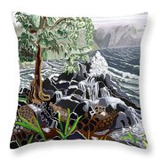 Keanae Throw Pillow by Fay Biegun - Printscapes