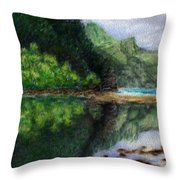 Ke'e Throw Pillow by Kenneth Grzesik