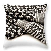 Keffiyeh Throw Pillow by Fabrizio Troiani