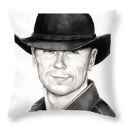 Kenny Chesney Throw Pillow by Murphy Elliott