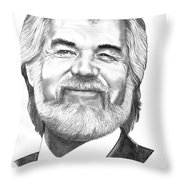 Kenny Rogers Throw Pillow by Murphy Elliott