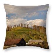 Kentucky Mountain Farmland Throw Pillow by Douglas Barnett