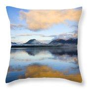 Ketchikan Sunrise Throw Pillow by Mike  Dawson