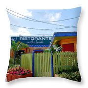 Key West Colors Throw Pillow by Susanne Van Hulst