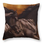 Kick Throw Pillow by JQ Licensing