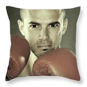 Kickboxer Throw Pillow by Oleksiy Maksymenko