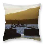 Killarney Golf Club, Lough Leane, Co Throw Pillow by The Irish Image Collection