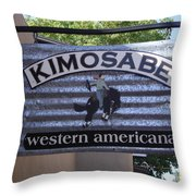 Kimosabe Throw Pillow by Mary Rogers
