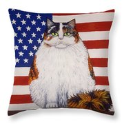 Kitty Ross Throw Pillow by Linda Mears