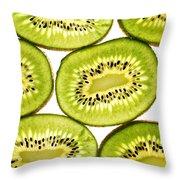 Kiwi Fruit II Throw Pillow by Paul Ge