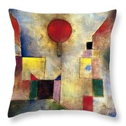 Klee: Red Balloon, 1922 Throw Pillow by Granger