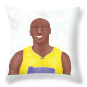 Kobe Bryant Throw Pillow by Toni Jaso