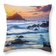 Koki Beach Harmony Throw Pillow by Inge Johnsson