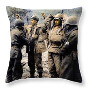 Korean War: Prisoners Throw Pillow by Granger