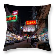 Kowloon Throw Pillow by Peter Verdnik
