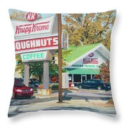 Krispy Kreme At Daytime Throw Pillow by Tommy Midyette