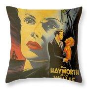 La Dame De Shanghai Throw Pillow by Nomad Art And  Design