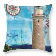 La Mer Throw Pillow by Debbie DeWitt