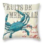 La Mer Shellfish 1 Throw Pillow by Debbie DeWitt