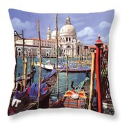 La Salute Throw Pillow by Guido Borelli