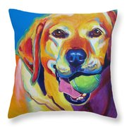 Lab - Bud Throw Pillow by Alicia VanNoy Call