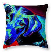 Lab - Canyon Throw Pillow by Alicia VanNoy Call