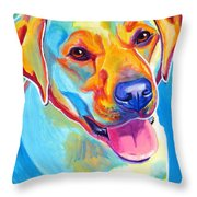 Lab - May Throw Pillow by Alicia VanNoy Call
