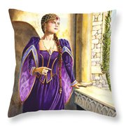 Lady Ettard Throw Pillow by Melissa A Benson