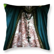 lady with rosary Throw Pillow by Joana Kruse