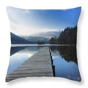 Lake Chambon. Auvergne. France Throw Pillow by Bernard Jaubert
