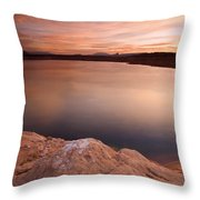 Lake Powell Dawn Throw Pillow by Mike  Dawson