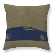 Lamborghini Countach Throw Pillow by Naxart Studio