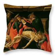 Lamentation Of Christ Throw Pillow by Sandro Botticelli