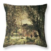 Landscape Throw Pillow by Charles Francois Daubigny