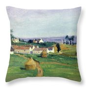 Landscape Throw Pillow by Victor Vignon